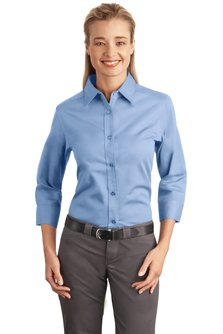 Ladies 3/4 Sleeve Oxford